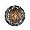 Moderná stropna lampa C-U-C me 100cm hnedá