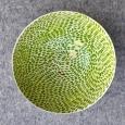 Keramická miska zelené bodky+zlato