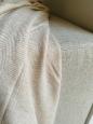 Kašmírová deka W vzor bielo-béžová
