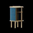 Kruhový nočný stolík Audacious modrý