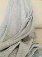 Kašmírová deka bielo-šedá