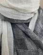 Kašmírový šal -šedý