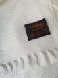 Kašmírová deka bielo-smotanová