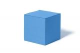 Kocka na sedenie bledomodrá