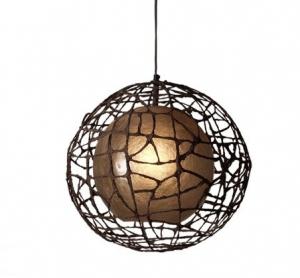 Moderná stropná lampa CUC me hneda   40 cm