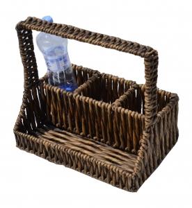 Košík na fľaše piknikový