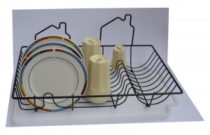 Odkvapkávač na riad 48x32 cm +podložka plast