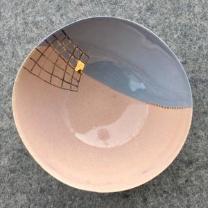 Keramická miska rúžová a šedá