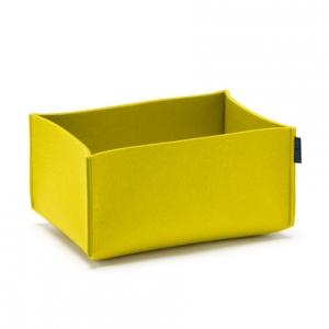 Obdĺžnikový košík Hey Sign žltý