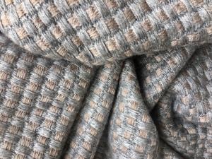 Kašmírová deka + vzor šedo-hnedá