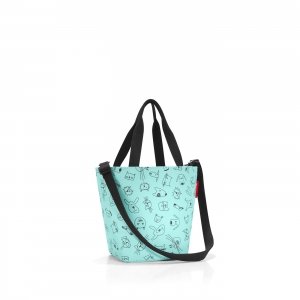 Taška Reisenthel Shopper XS Kids Cats and Dogs Mint