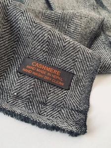 Kašmírový šál vzor šedý-w