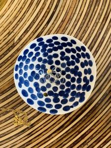 Keramická miska S modré bodky