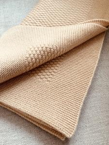 Kašmírová deka béžová malá
