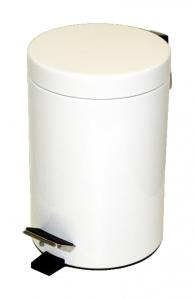 Smetný kôš šlapací biely21x32  5L