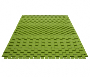 Vlnený koberec zelený