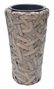 Kvetináč umelý ratan S 25X45 cm