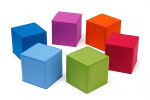 Kocka na sedenie zelená