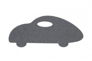 Koberec do detskej izby auto šedé